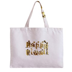 Happy Diwali Gold Golden Stars Star Festival Of Lights Deepavali Typography Zipper Mini Tote Bag by yoursparklingshop