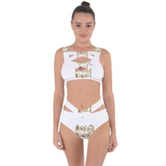 Happy Diwali Gold Golden Stars Star Festival Of Lights Deepavali Typography Bandaged Up Bikini Set  by yoursparklingshop