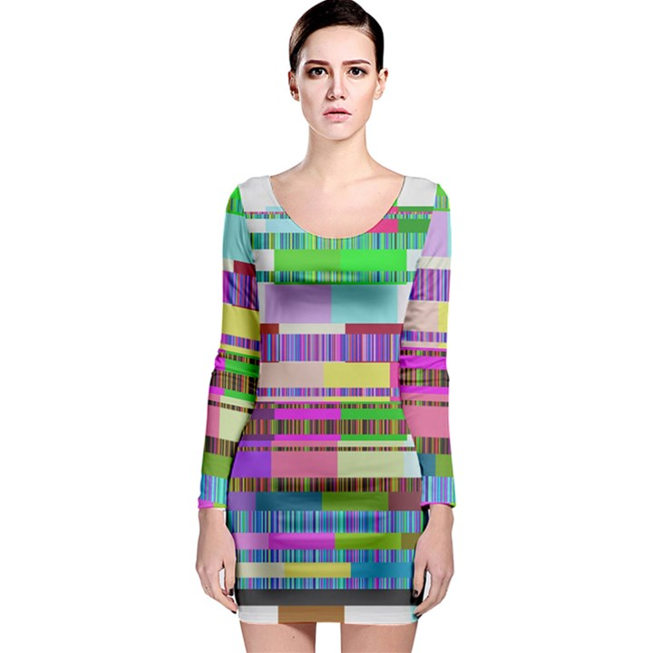 Error Long Sleeve Bodycon Dress