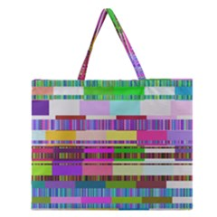 Error Zipper Large Tote Bag by MoreColorsinLife
