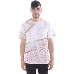 Collage,white Marble,gold,silver,black,white,hand Drawn, Modern,trendy,contemporary,pattern Men s Sports Mesh Tee by 8fugoso