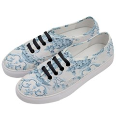 Blue Vintage Floral  Women s Classic Low Top Sneakers by 8fugoso