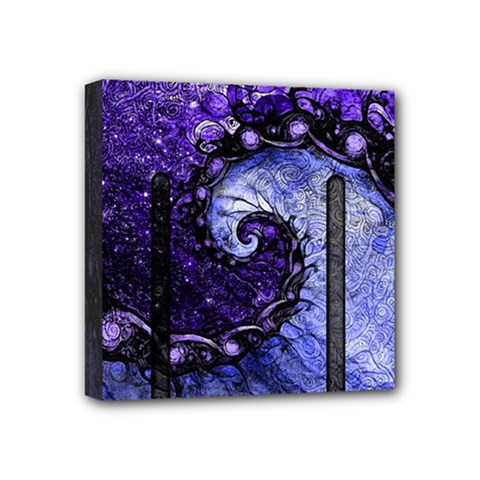 Beautiful Violet Spiral For Nocturne Of Scorpio Mini Canvas 4  X 4  by beautifulfractals