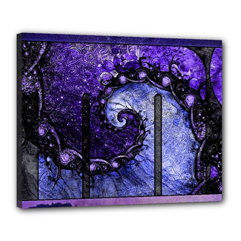 Beautiful Violet Spiral For Nocturne Of Scorpio Canvas 20  X 16  by beautifulfractals