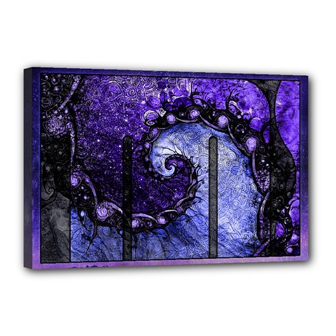 Beautiful Violet Spiral For Nocturne Of Scorpio Canvas 18  X 12  by jayaprime
