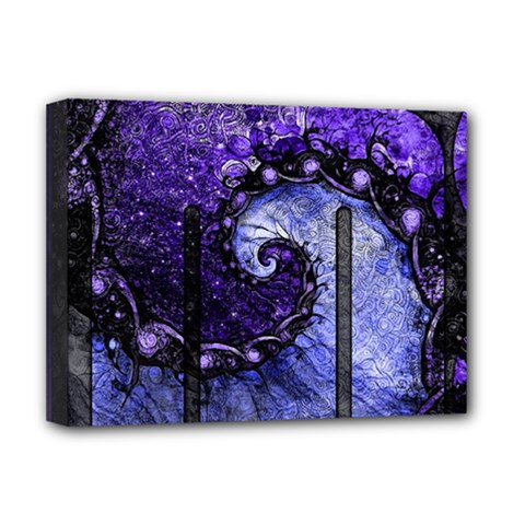 Beautiful Violet Spiral For Nocturne Of Scorpio Deluxe Canvas 16  X 12   by jayaprime