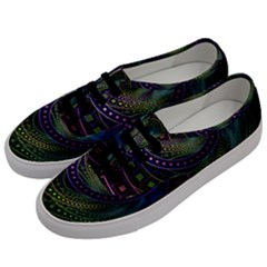 Oz The Great With Technicolor Fractal Rainbow Men s Classic Low Top Sneakers by jayaprime