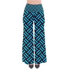 Woven2 Black Marble & Turquoise Colored Pencil (r) Pants by trendistuff