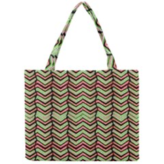 Zig Zag Multicolored Ethnic Pattern Mini Tote Bag by dflcprintsclothing