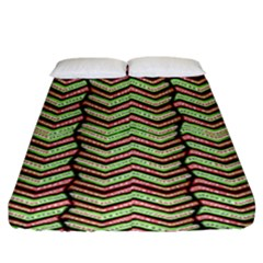 Zig Zag Multicolored Ethnic Pattern Fitted Sheet (king Size) by dflcprintsclothing