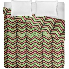 Zig Zag Multicolored Ethnic Pattern Duvet Cover Double Side (king Size) by dflcprintsclothing