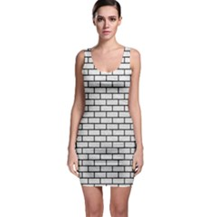 Brick1 Black Marble & White Leather Bodycon Dress by trendistuff