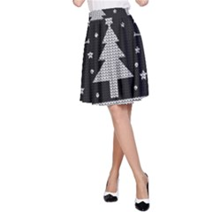 Ugly Christmas Sweater A Line Skirt by Valentinaart