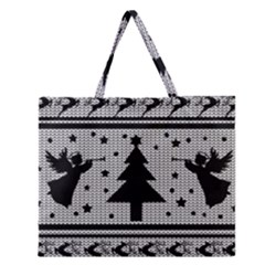 Ugly Christmas Sweater Zipper Large Tote Bag by Valentinaart