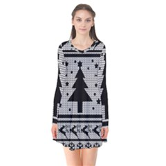 Ugly Christmas Sweater Flare Dress by Valentinaart