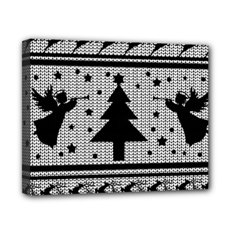 Ugly Christmas Sweater Canvas 10  X 8  by Valentinaart