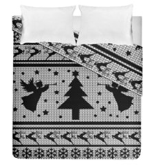 Ugly Christmas Sweater Duvet Cover Double Side (queen Size) by Valentinaart
