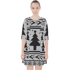 Ugly Christmas Sweater Pocket Dress by Valentinaart