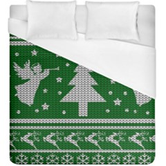 Ugly Christmas Sweater Duvet Cover (king Size) by Valentinaart