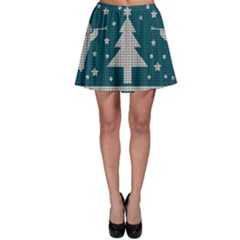 Ugly Christmas Sweater Skater Skirt by Valentinaart