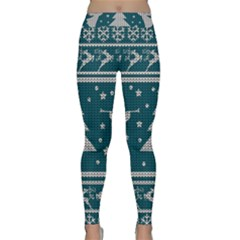Ugly Christmas Sweater Classic Yoga Leggings by Valentinaart