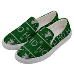 Ugly Christmas Sweater Men s Canvas Slip Ons by Valentinaart