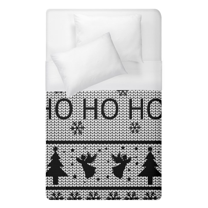 Ugly Christmas Sweater Duvet Cover (Single Size)