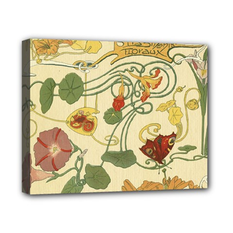 Floral Art Nouveau Canvas 10  X 8  by 8fugoso