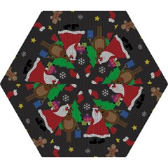 Ugly Christmas Sweater Mini Folding Umbrellas by Valentinaart