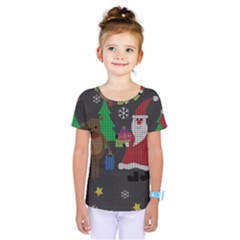Ugly Christmas Sweater Kids  One Piece Tee by Valentinaart