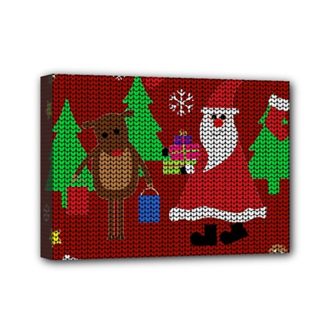 Ugly Christmas Sweater Mini Canvas 7  X 5  by Valentinaart