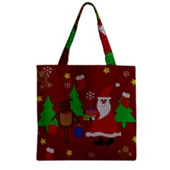 Ugly Christmas Sweater Zipper Grocery Tote Bag by Valentinaart