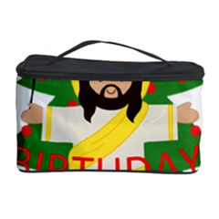 Jesus   Christmas Cosmetic Storage Case by Valentinaart