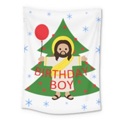 Jesus   Christmas Medium Tapestry by Valentinaart