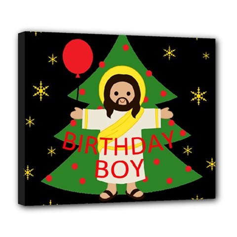 Jesus   Christmas Deluxe Canvas 24  X 20   by Valentinaart
