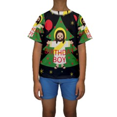 Jesus   Christmas Kids  Short Sleeve Swimwear