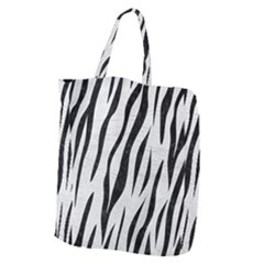 Skin3 Black Marble & White Leather Giant Grocery Zipper Tote by trendistuff