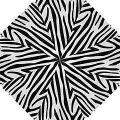 Skin4 Black Marble & White Leather (r) Hook Handle Umbrellas (small) by trendistuff