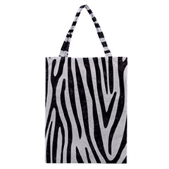 Skin4 Black Marble & White Leather (r) Classic Tote Bag by trendistuff