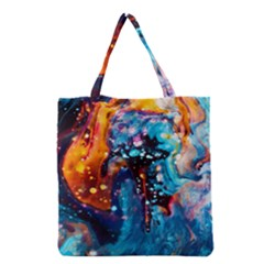 Abstract Acryl Art Grocery Tote Bag