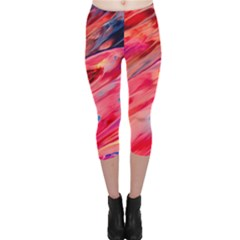 Abstract Acryl Art Capri Leggings