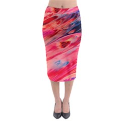 Abstract Acryl Art Midi Pencil Skirt by tarastyle