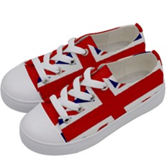 Union Jack Watercolor Drawing Art Kids  Low Top Canvas Sneakers by picsaspassion