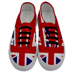 Union Jack Watercolor Drawing Art Men s Classic Low Top Sneakers