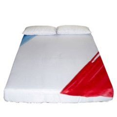 France Flag, Banner Watercolor Painting Art Fitted Sheet (king Size)