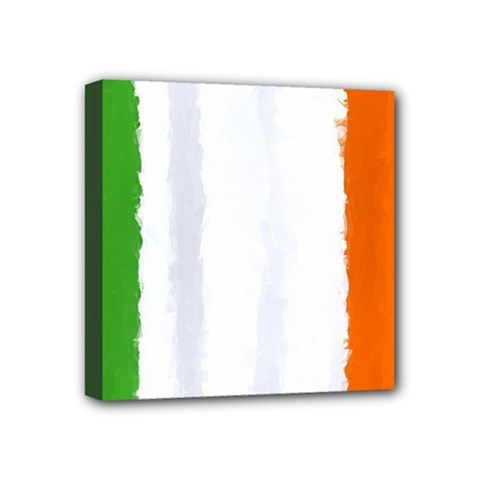 Flag Ireland, Banner Watercolor Painting Art Mini Canvas 4  X 4  by picsaspassion