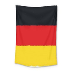 German Flag, Banner Deutschland, Watercolor Painting Art Small Tapestry by picsaspassion