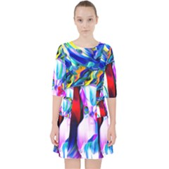 Abstract Acryl Art Pocket Dress by tarastyle