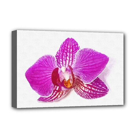 Lilac Phalaenopsis Flower, Floral Oil Painting Art Deluxe Canvas 18  X 12   by picsaspassion