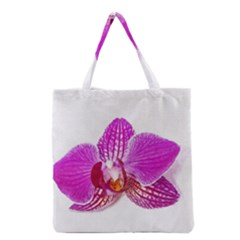 Lilac Phalaenopsis Flower, Floral Oil Painting Art Grocery Tote Bag